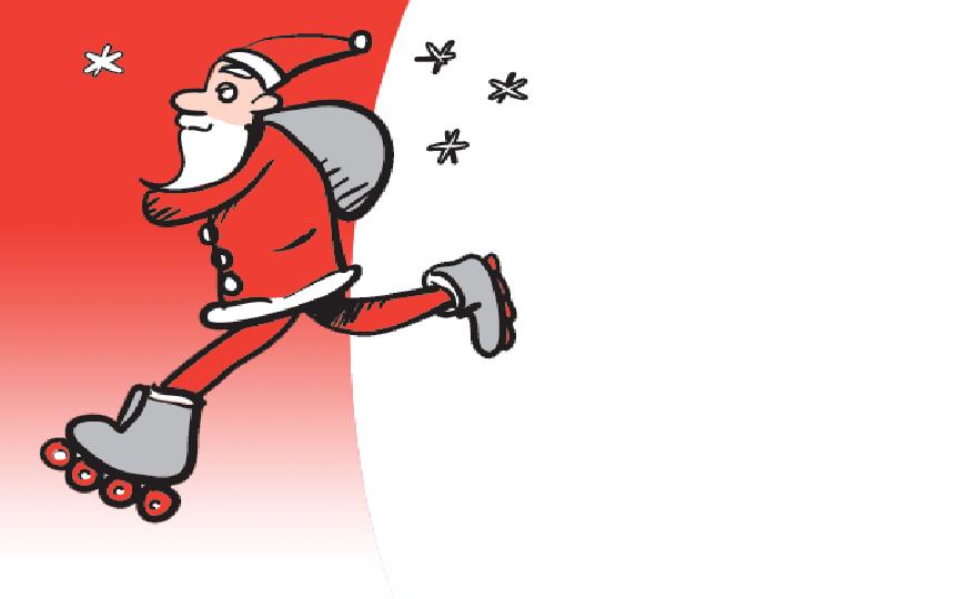 Deltag i Vallensbæk Rulleskøjteklubs årlige julehygge søndag den 2. december 2018 fra kl. 10.00 til kl. 16.00 i Multisalen på Vallensbæk Skole.